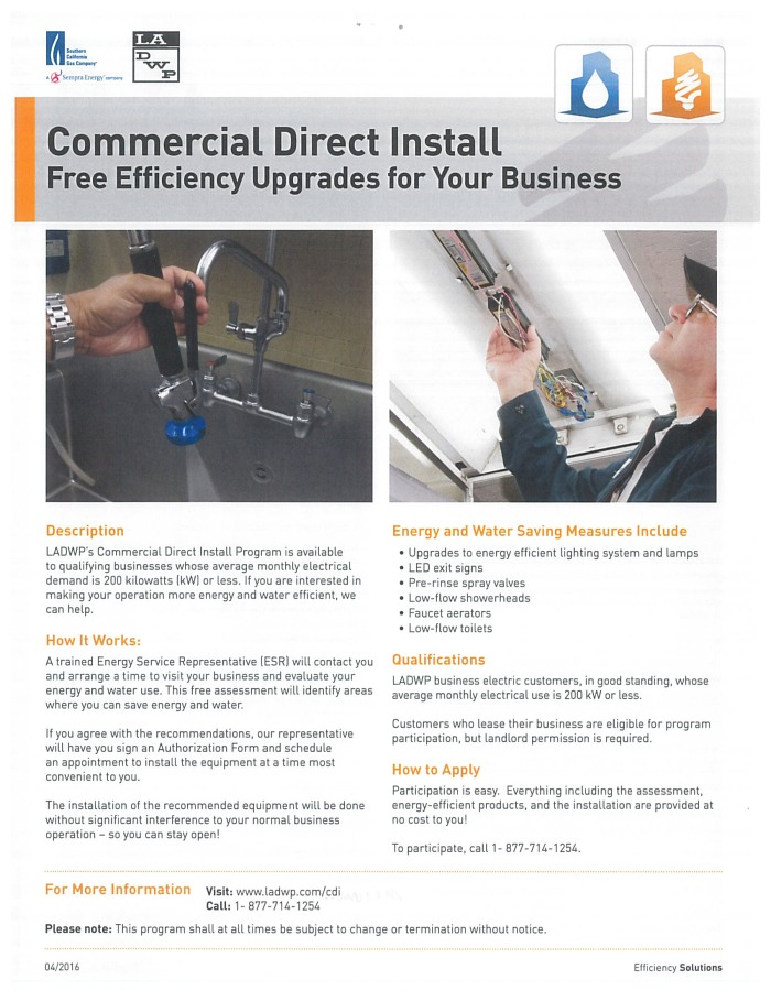 Commercial Direct Install